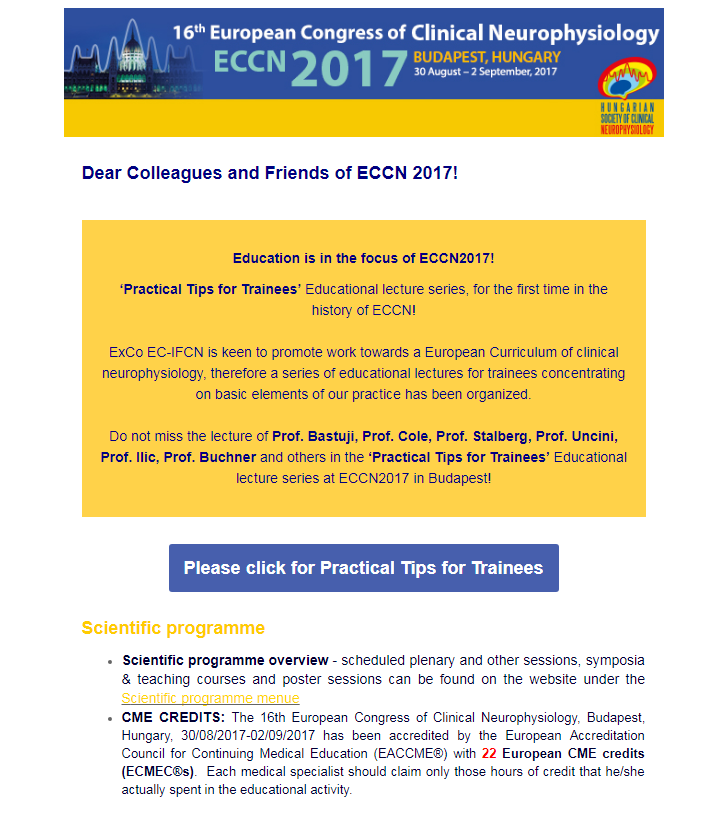 2017 ECCN Budapest Practical Tips For Trainees